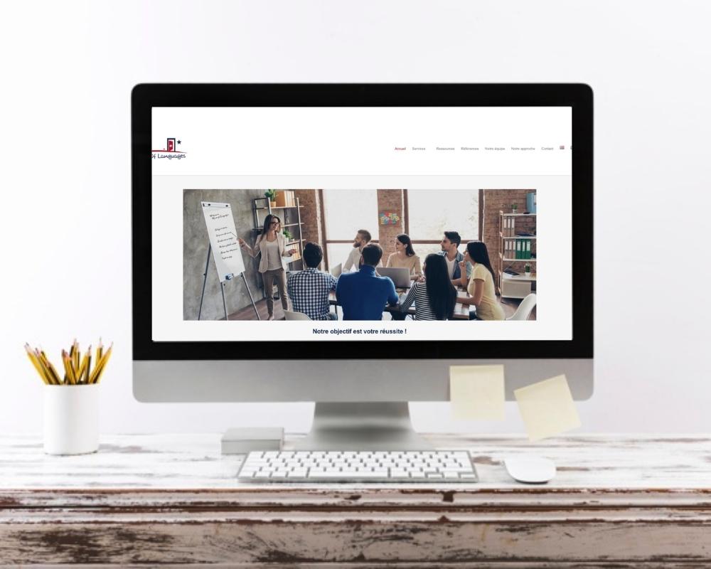 Refonte de site web pour House of languages