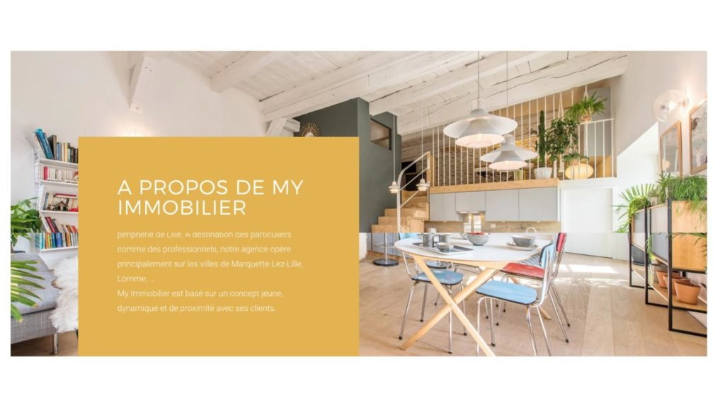 page a propos site immobilier web lille