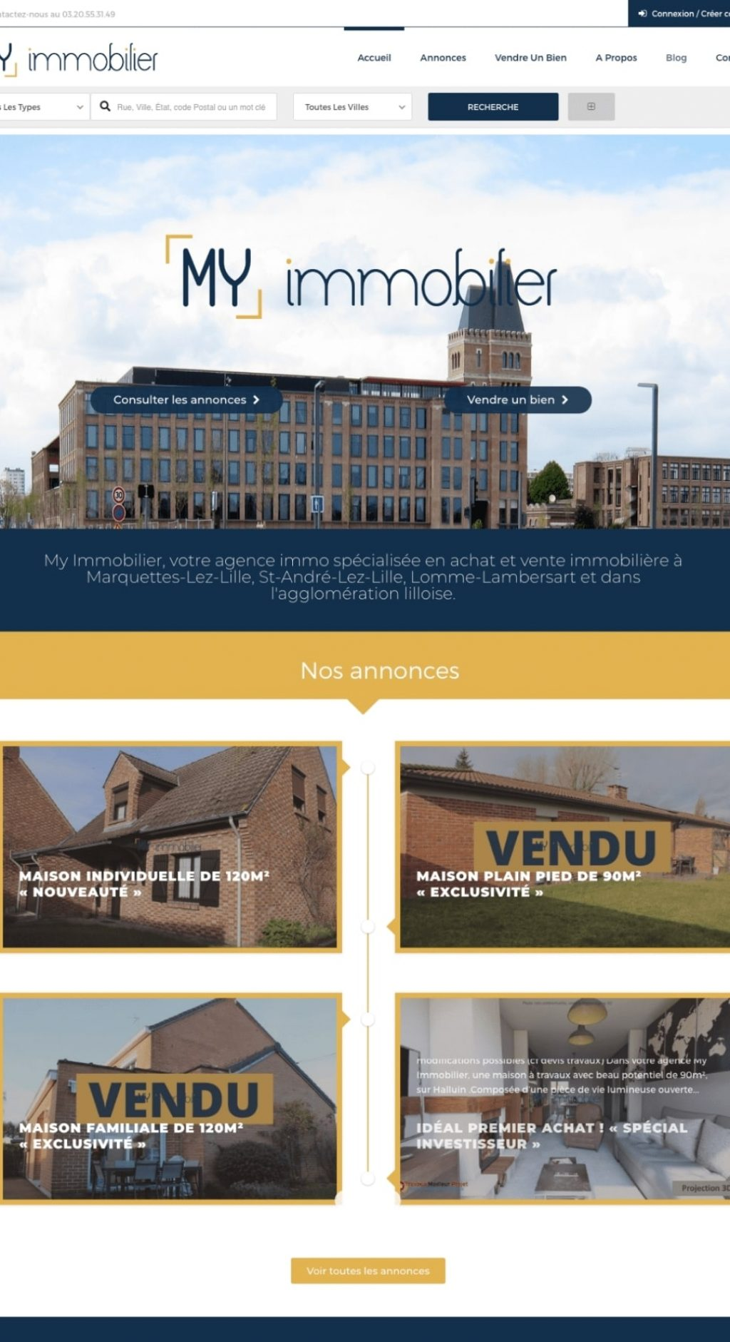 creation site wordpress lille immobilier