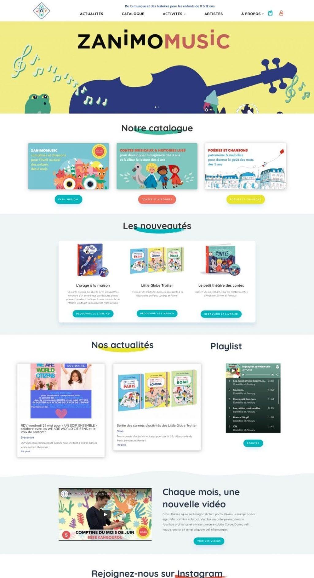 freelance webdesign lille paris wordpress joyvox
